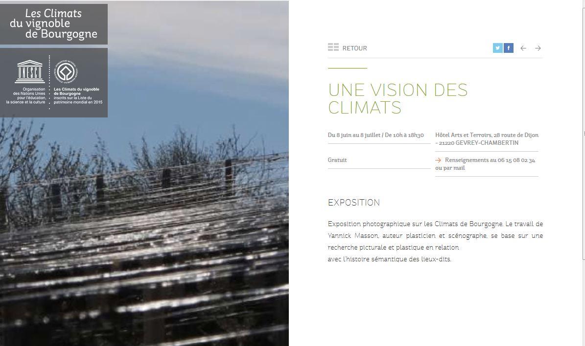 Exposition Photo Arts & Terroirs Mois des Climats